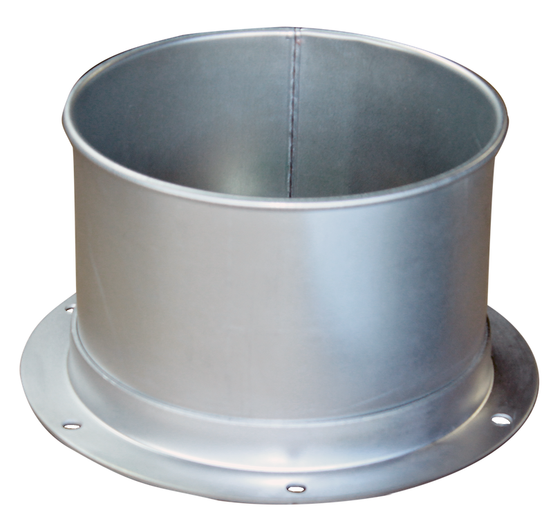 welded flange duct adapter