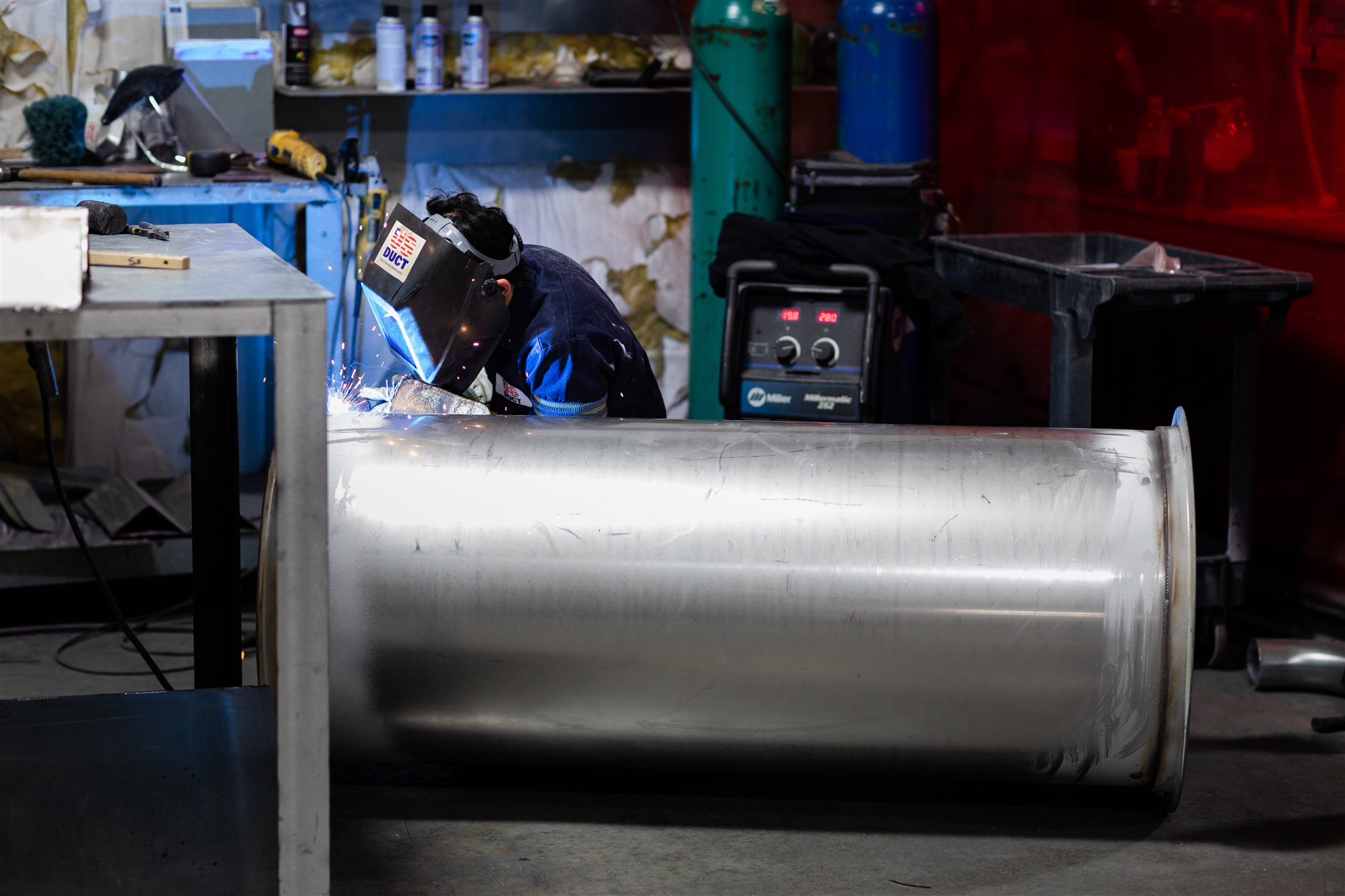 flanged ductwork welding for exhaust applications