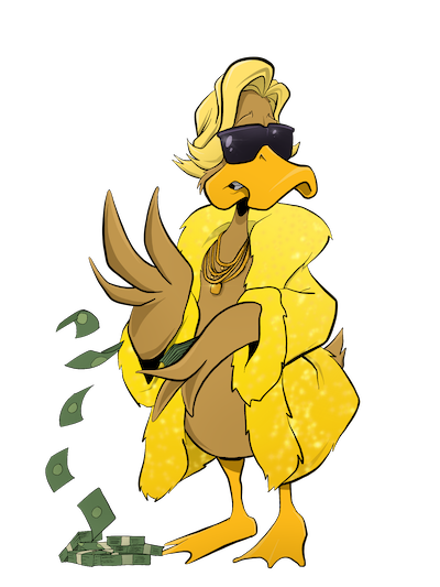 duck with money