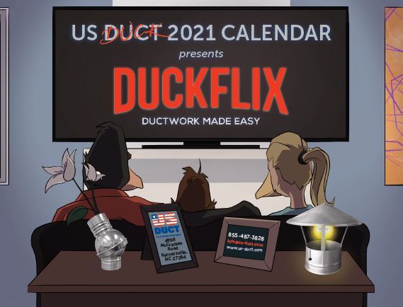 2021 US Duct-Duck Calendar Cover Page