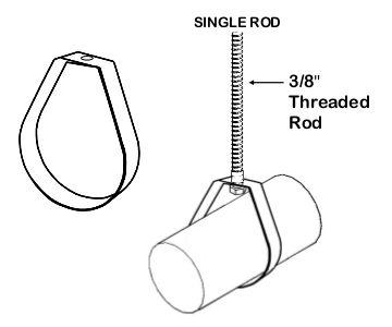 teardrop duct hanger