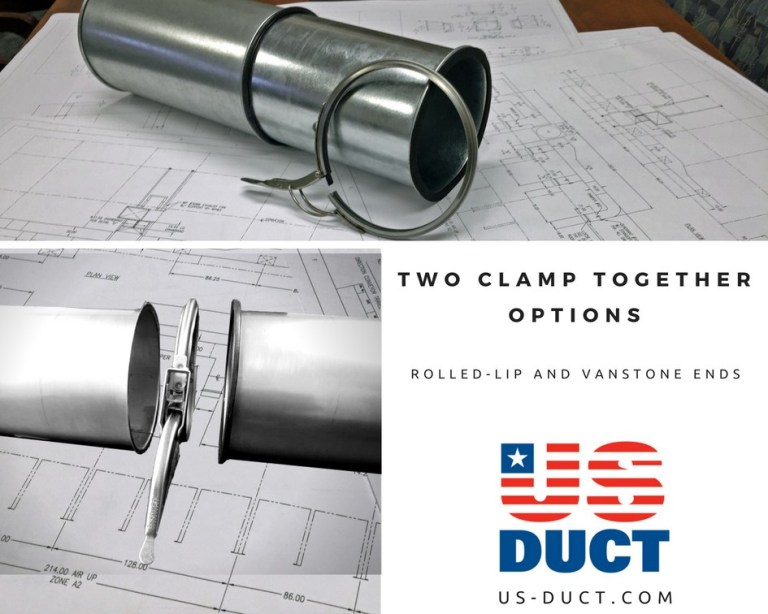 Two Types of Clamp Together Duct